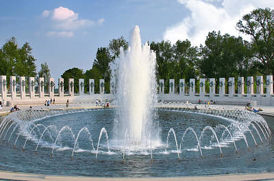 Photograph - World War II Memorial by Mary Almond