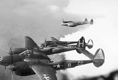Photograph - World War II: P-38 by Granger