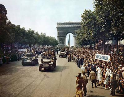 World War II Paris, 1944 Art Print