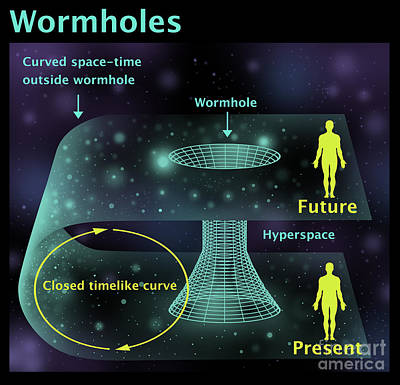 Info Graphic Photograph - Wormholes by Gwen Shockey