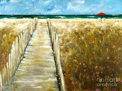 Impressionistic Landscape Painting - Worn Down The Middle by Frances Marino
