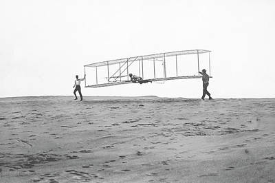 Test Pilot Wall Art - Photograph - Wright Brothers' Glider by Us Air Force/science Photo Library