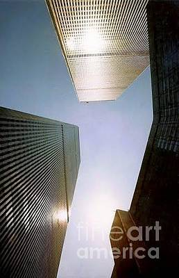 Photograph - Wtc Abstract The Angle With World Trade by Michael Hoard