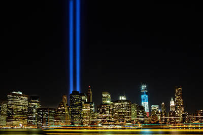Wtc Tribute Of Light Original by Stan Weiss