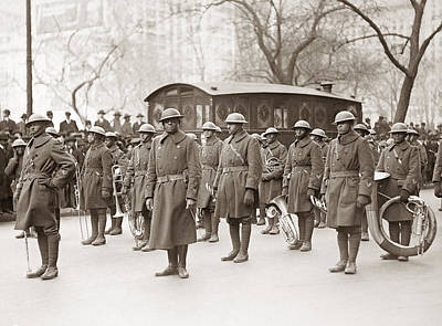 Marching Band Photograph - Wwi Band, 1919 by Granger
