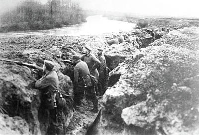 Photograph - Wwi Trenches, C1914 by Granger