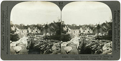 Ypres Photograph - Wwi Ypres, C1916 by Granger