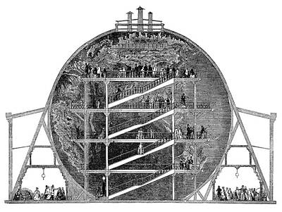Globe Painting - Wyld's Great Globe, 1851 by Granger