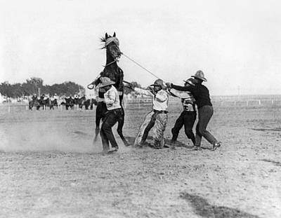 Photograph - Wyoming Rodeo, C1910 by Granger
