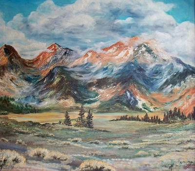 Painting - Wyoming Sunrise by Jean Ann Curry Hess
