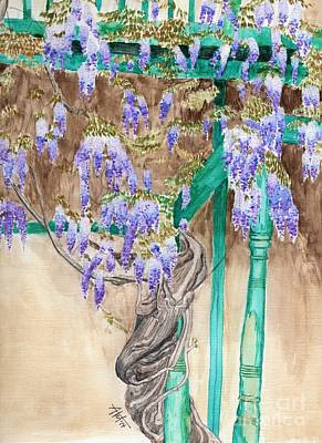 Painting - Wysteria Wrapped by Audrey Van Tassell