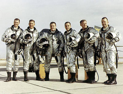 Astronauts Photograph - X-15 Aircraft Test Pilots by Nasa