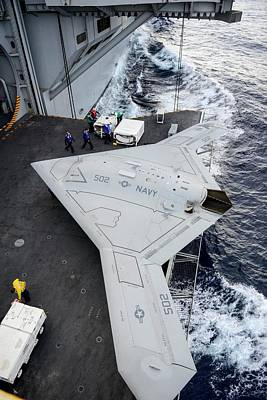 Oceans 11 Photograph - X-47b Unmanned Combat Air Vehicle by Us Air Force