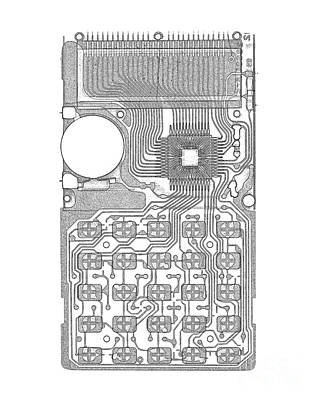 X-ray Of Calculator Art Print by Bert Myers