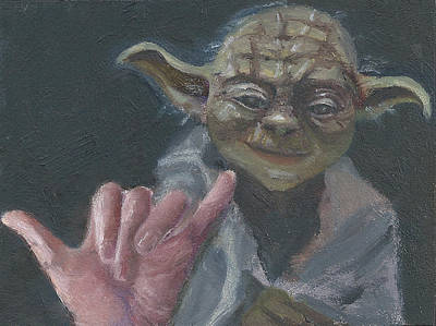 Painting - Y Is For Yoda by Jessmyne Stephenson