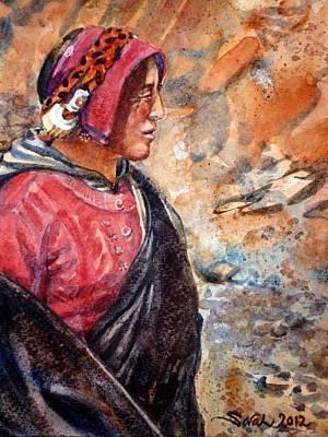 Yak Herder Original by Sarah Kovin Snyder