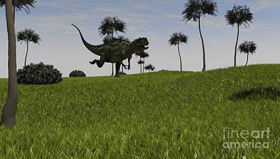 Running Digital Art - Yangchuanosaurus Running by Kostyantyn Ivanyshen