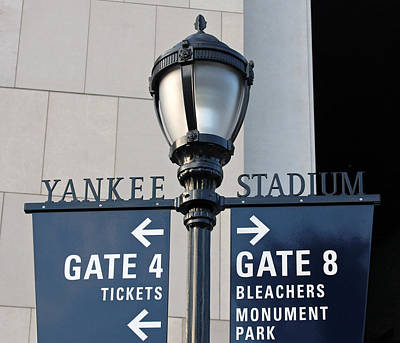 Yankee Stadium Sign Post Art Print