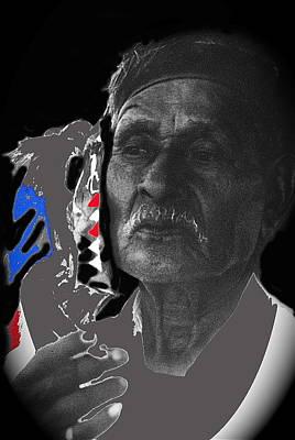 Yaqui Photograph - Yaqui Pascola Dancer Smoking Cigarette New Pascua Arizona 1969-2013 by David Lee Guss