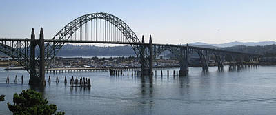 Yaquina Bay Bridge Photograph - Yaquina Bay Bridge - Newport Oregon by Daniel Hagerman
