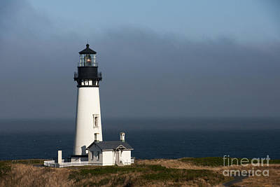 Photograph - Yaquina Head Lighthouse - Newport by Sandra Bronstein