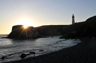 Photograph - Yaquina Head Sunset by Rebecca Parker