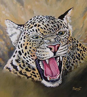 Art Print featuring the painting Yawn by Anthony Mwangi