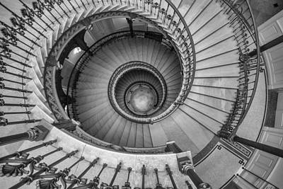 Photograph - Ybl Palace  Neorenessaince Spiral Staircase by Judith Barath
