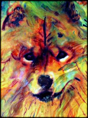 Abstract Of Dogs Mixed Media - Year Of The Dog by Wendie Busig-Kohn