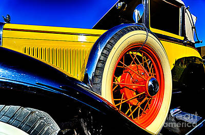 Photograph - Yellow Antique Car by Danny Hooks