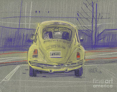 Painting - Yellow Beetle by Donald Maier