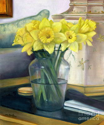 Painting - Yellow Daffodils by Marlene Book