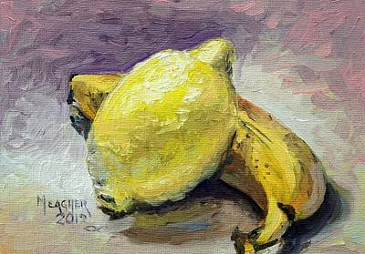 Yellow Bananas Painting - Yellow Fruit by Spencer Meagher