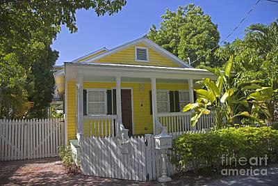 Yellow Key West Florida Cottage Art Print