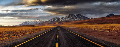 Volcano Photograph - Yellow Road by Adhemar Duro