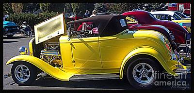 Photograph - Yellow Roadster by Bobbee Rickard