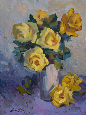 Painting - Yellow Roses by Diane McClary