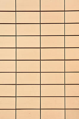 Grid Photograph - Yellow Tiles by Tom Gowanlock