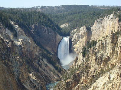 Photograph - Yellowstone Falls by Susan Woodward