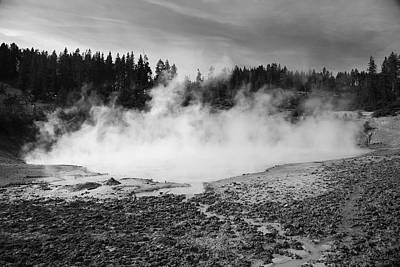Photograph - Yellowstone National Park - Mud Pots by Frank Romeo