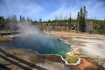 Photograph - Yellowstone Park - Geyser by Frank Romeo