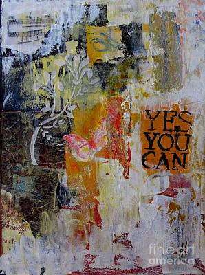 Painting - Yes You Can  by Corina  Stupu Thomas
