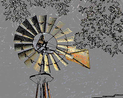 Photograph - Yesterday's Windmill by Linda Cox
