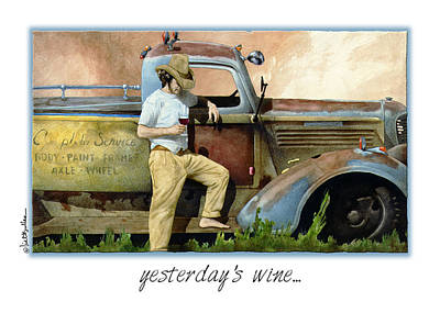 Red Wine Painting - Yesterday's Wine... by Will Bullas