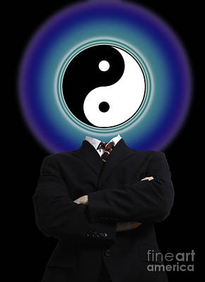 Opposing Forces Photograph - Yin Yang In A Man by Monica Schroeder
