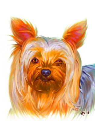 Buy Dog Art Digital Art - Yorkshire Terrier Painting by Iain McDonald