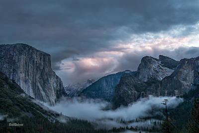 Yosemite In Clouds Art Print by Bill Roberts