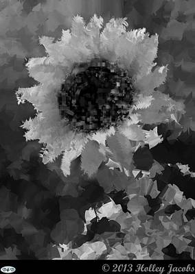 Digital Art - You Are My Sunshine Black And White by Holley Jacobs