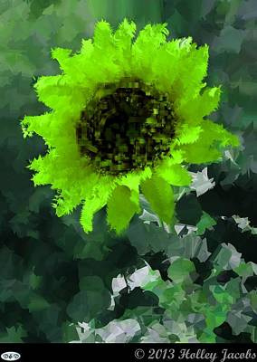 Digital Art - You Are My Sunshine Green by Holley Jacobs