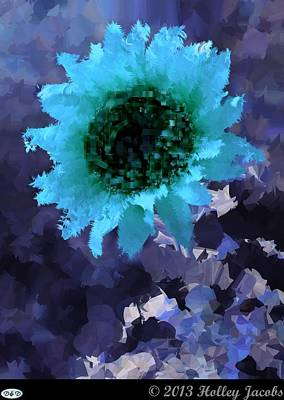 Digital Art - You Are My Sunshine Teal by Holley Jacobs
